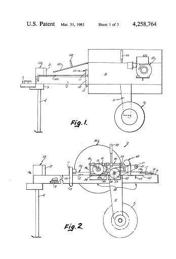 flywheel wood splitter designs offer many patented forms for driving a ram into a piece of wood to split it onto separate pieces - Home Built Log Splitter Plans