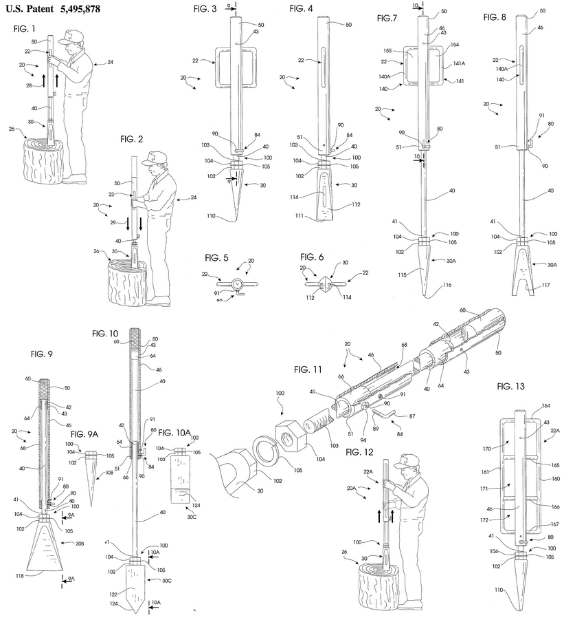 log splitter plans patent - Home Built Log Splitter Plans