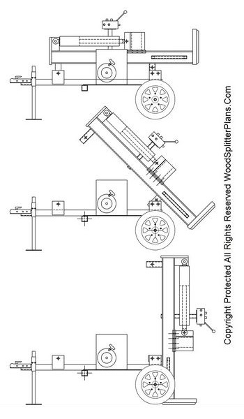 45 ton vertical wood splitter plans